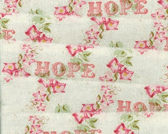 Hope Christmas muslin ribbon french country shabby chic hand rubber stamped (item 235