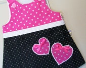 SALE.....Queen of Hearts Children's A-Line Dress/Sugar Chic Kids/Size 6-9mo.