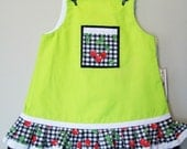 SALE....Cherrie Pleated Children's A-Line Dress/Sugar Chic Kids/Size 12 mo.