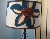 Blue Blooms Flower Lampshade