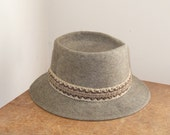 Cyber Monday Etsy / Vintage Mens Hat Gray Wool Felt