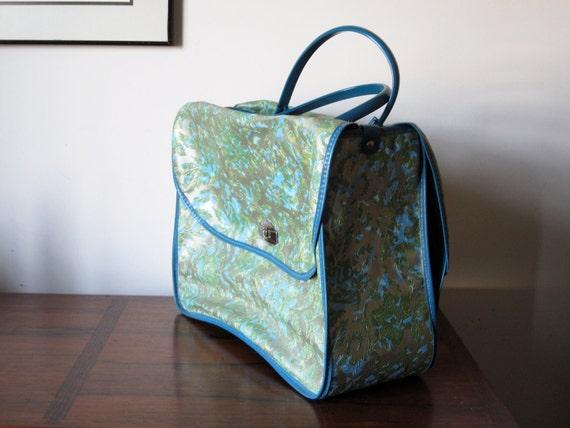 Craft Tote Bag Paisley / Paisley travel bag / carry on bag / vintage paisley bag