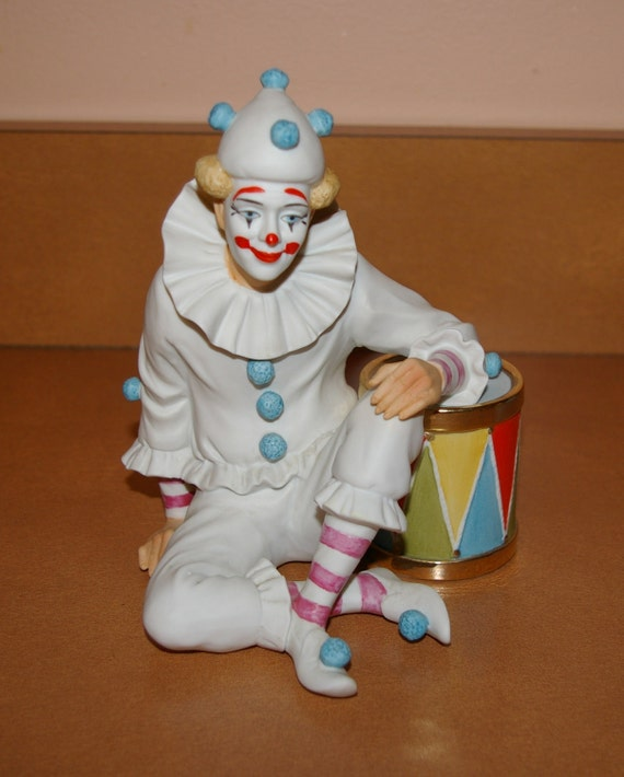 RESERVED LISTING  Clown Figurine 1983  By Ben Black  Limited Edition Between Acts
