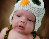 Owl Earflap hat or photoprop