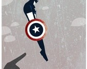 CAPTAIN AMERICA Modern Graphic Poster Print