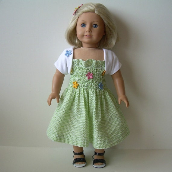 Sundress, Shrug and Sandals for American Girl and Other 18 Inch Dolls