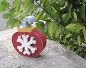SNOWFLAKE ORNAMENT BLOCK for Noel, shelf, desk, office, mantle and home decor
