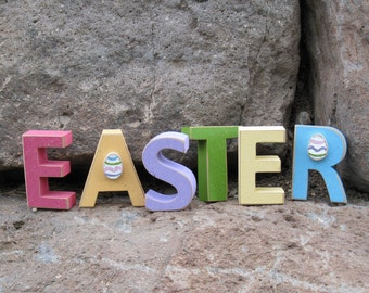 EASTER BLOCKS for Easter word and home decor