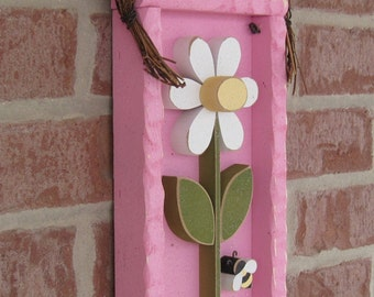 DAISY FRAME With STEM (Pink with White Flower)