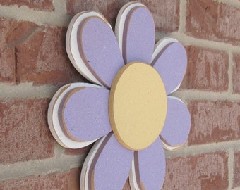 LAVENDER LAYERED DAISY for wall hanging, girl bedroom or home decor