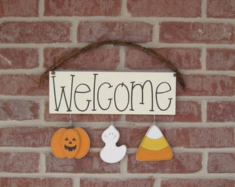 Monthly WELCOME SIGN (OCTOBER) for wall and home decor