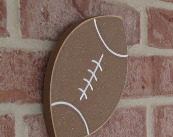 HANGING FOOTBALL for boy, wall, sports theme room, man cave, and bedroom home decor