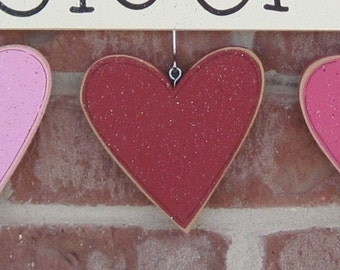 MONTHLY WELCOME FEBRUARY Decorations (no sign included) for wall and home decor