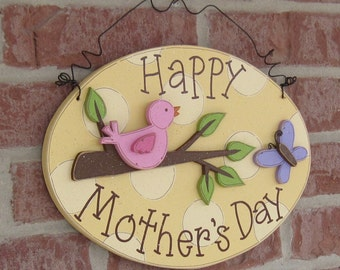 HAPPY MOTHER'S DAY Oval Sign for gift, home, desk, shelf, decor