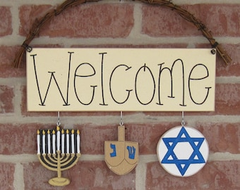 MONTHLY WELCOME with Hannukah Decorations for wall and home decor
