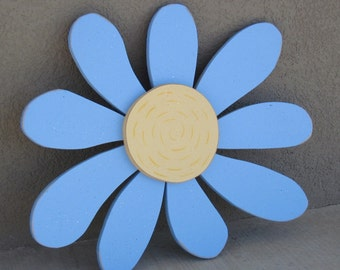 Large Whimsicle Blue DAISY for wall hanging bedroom or home decor