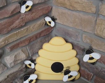 BEE HIVE And BEES For Home Decor Bee Themed Girl Room