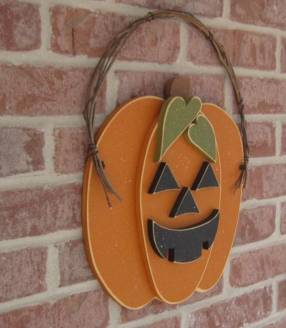 HALLOWEEN JACKOLANTERN PUMPKIN for Halloween, Fall, Autumn, wall and door hanging decor