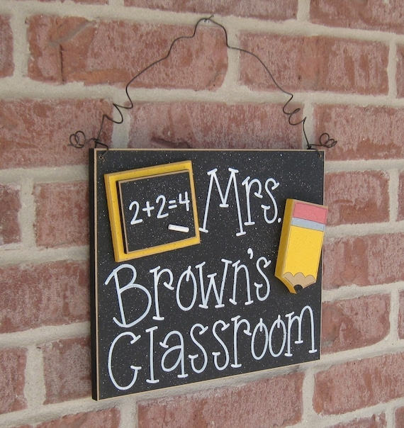 Custom Teacher Personalized Name Or Word Sign For By Lisabees