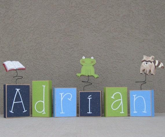 Custom Personalized NAME or WORD BLOCKS for children, home, desk, shelf, decor