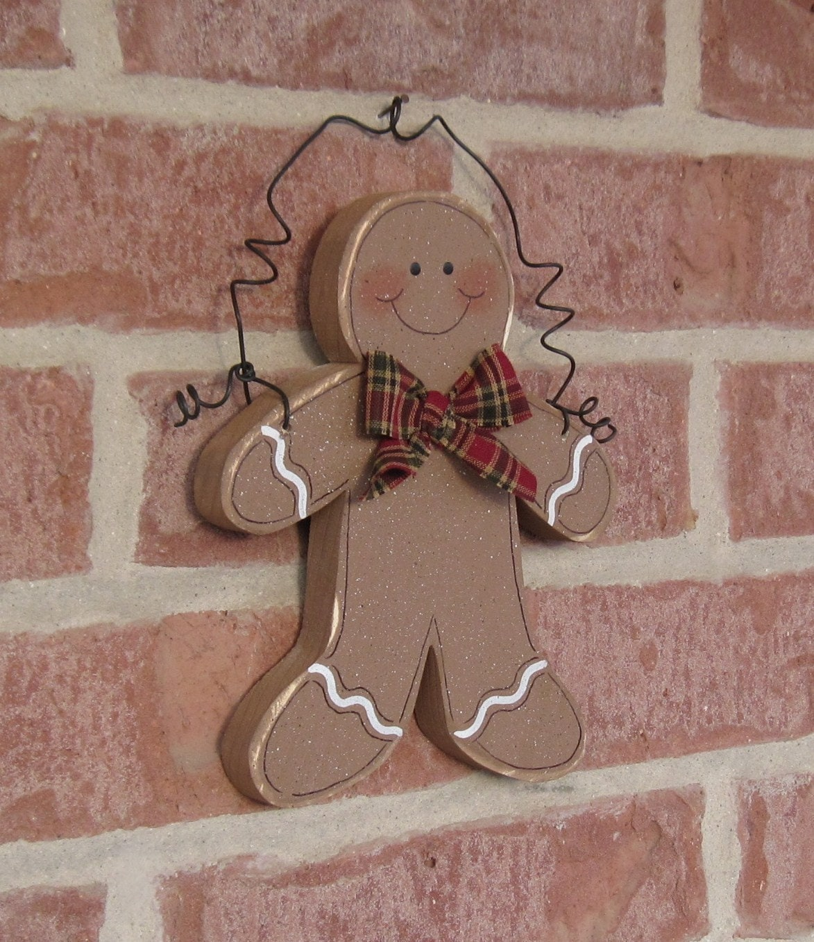 Ratings Feedback For Gavan Wood Painting Decorating: HANGING GINGERBREAD MAN For Wall Door Tree Holiday By Lisabees