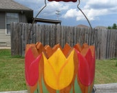 Tulip Basket Reclaimed One of a Kind