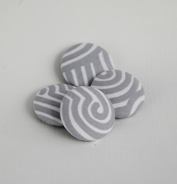 Gray Swirl Fabric Covered Magnets Refrigerator Office Organization Home Office