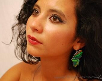 Green Farfalla Earrings