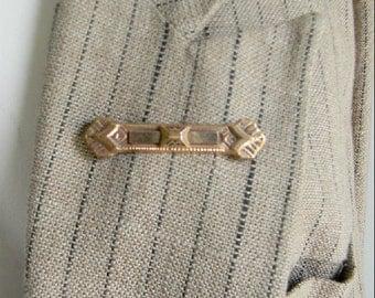 vintage. Victorian Gold Bar Pin Brooch