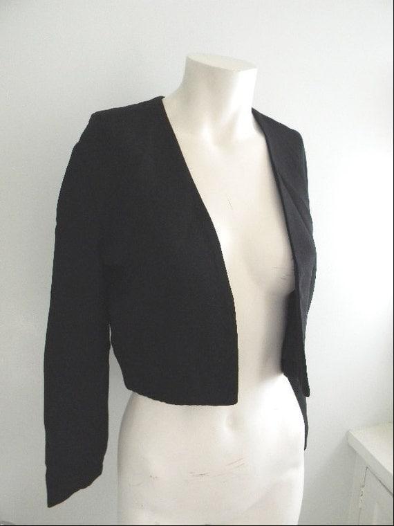 vintage. Nicole Miller Black Bolero Jacket