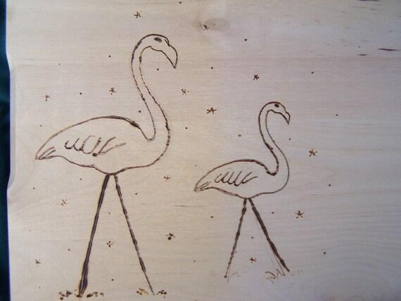 SALE Yard Flamingo Cutiing Board Set