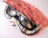 sunglass case-pink  fur