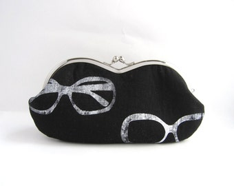 Sunglasses / Eyeglass Case -sunglasses on black linen
