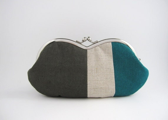 sunglass / eyeglasses case - linen patchwork