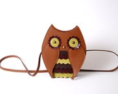 Mr owl bag vintage colors - TitinaStore