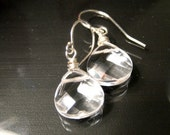 Quartz Crystal Briolette Earrings - Sterling Silver
