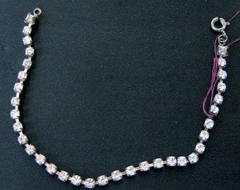 Vintage 1940s Single Strand Rhinestone Bracelet