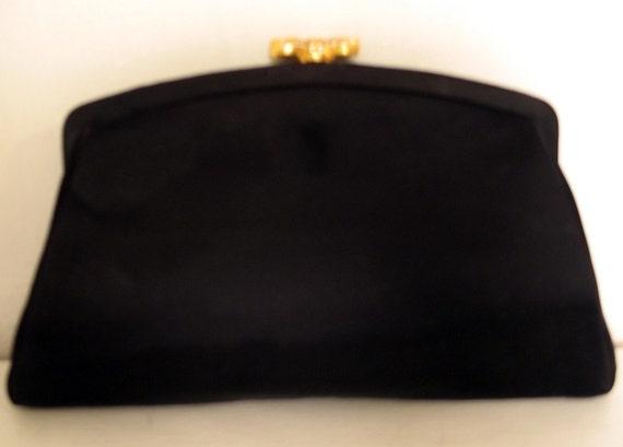 Vintage 1950's Morris Moskowitz Satin Evening Clutch Bag