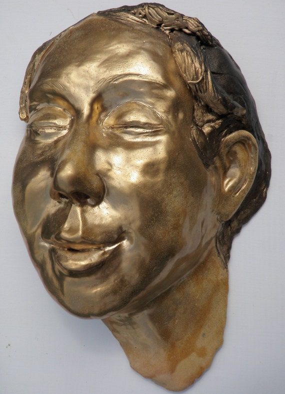 Golden Joy, Ceramic Wall Face, SALE