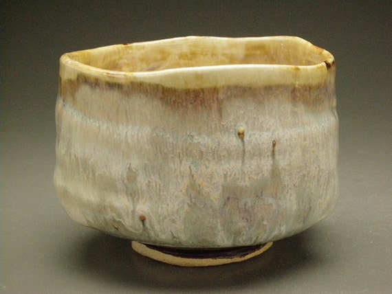 Ceramic Bowl Chawan, A Fresh Mist, Wabi Sabi Macha Tea Bowl