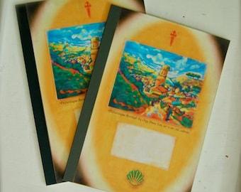 Camino de Santiago, Vintage A5 Notebook - Colorful Designs, Unique Memoir, Inspiring Gift, Traveller, Hiker, Pilgrim, Writing, Journey, Art