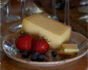 Still Life Art Print of Fruit and Cheese   ST-6
