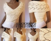 Knitting Pattern Womens Sweater Pattern Knitted Vest Pattern PDF Pattern Downloadable Patterns
