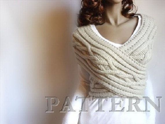 Criss Cross Cabled Sweater Vest PDF PATTERN Design by