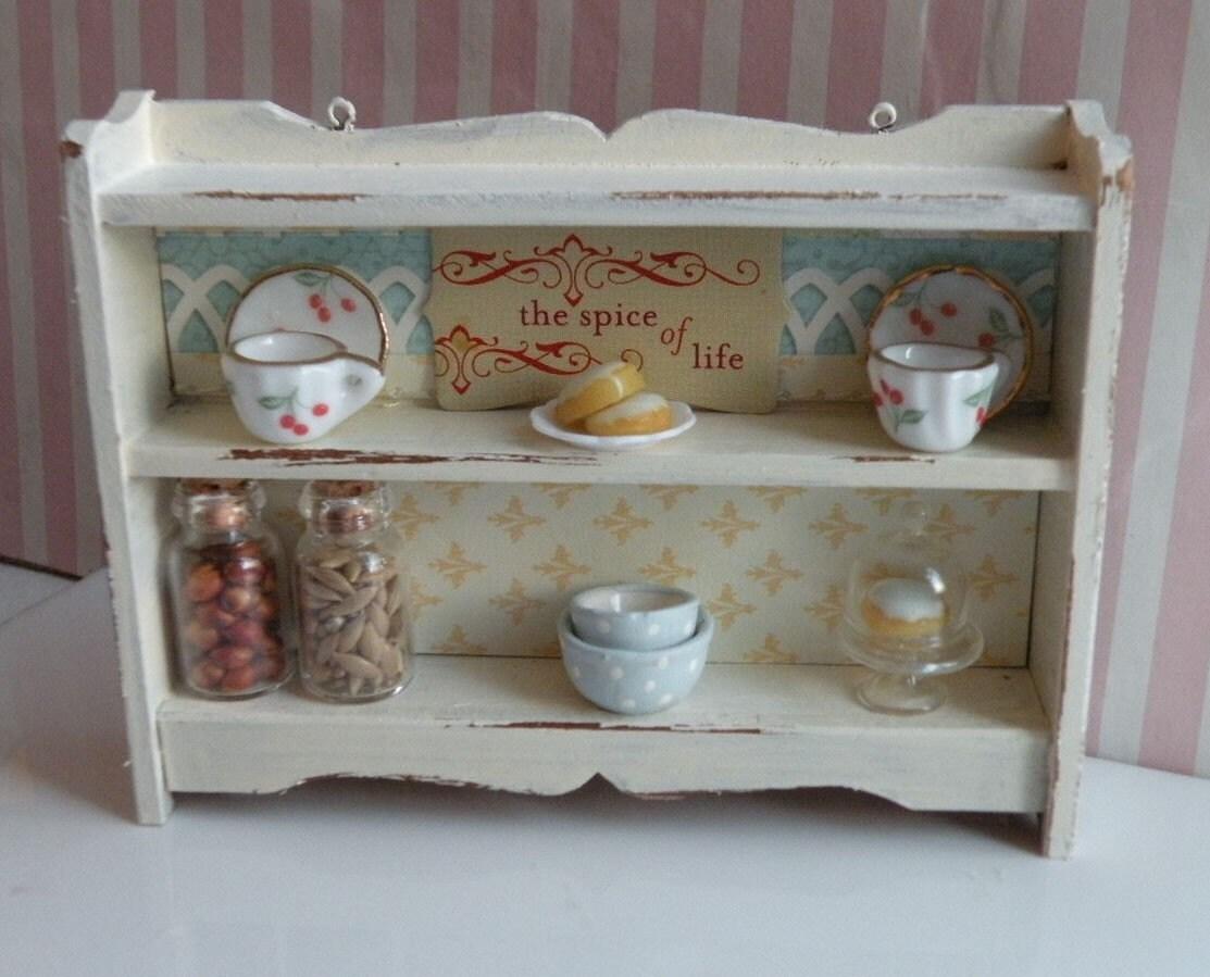 miniature shabby chic kitchen shelves. Black Bedroom Furniture Sets. Home Design Ideas