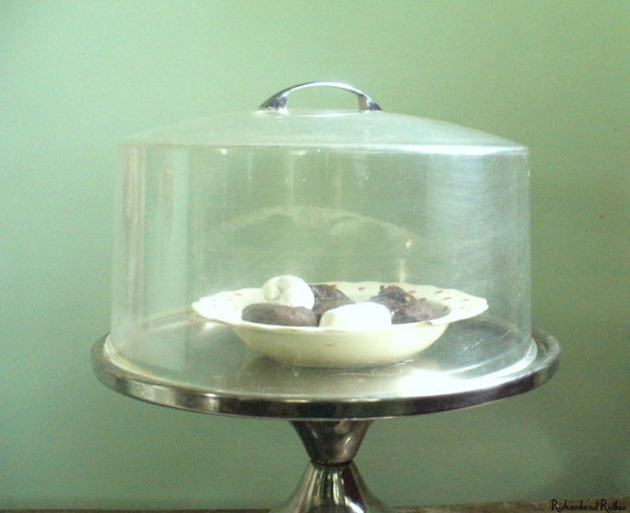 Vintage Cake Stand With Dome Coverretro Diner