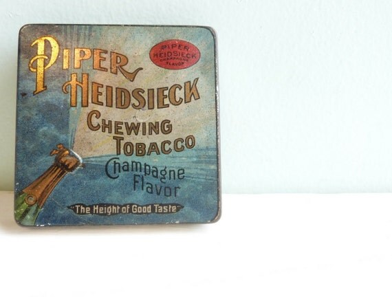 Vintage Piper Heidsieck Chewing Tobacco Champagne Flavor Tin