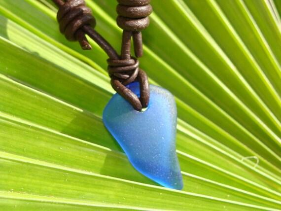 Blue Arrow Sea Glass Necklace