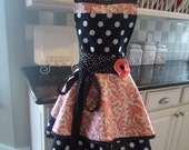 Pink Swirl ~ Annabelle Style Womens Retro Modern Apron - 4RetroSisters