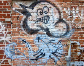 Ghost Graffiti Photo by phipps y moran Baltimore Street Art Urban Decay Flipping Gypsy Photography free mat Ready To Frame